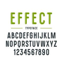 Decorative narrow sanserif font vector