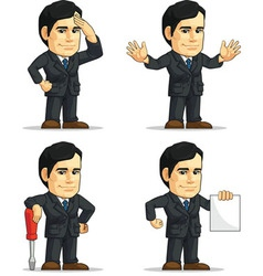 Businessman or company executive customizable 9 vector