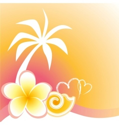 Flower and palm vector