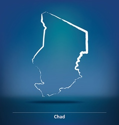 Doodle map of chad vector