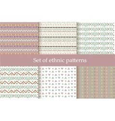 Set of ethnic seamless patterns vector
