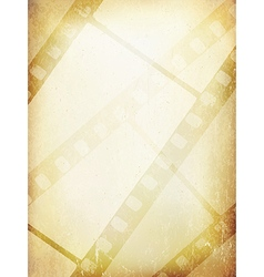 Old Filmstrip Abstract Background Template vector image