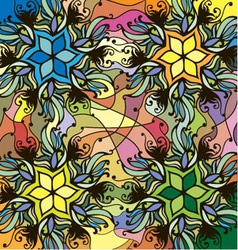 Stained glass pattern vector image