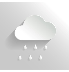 Abstract cloud and rain icon vector