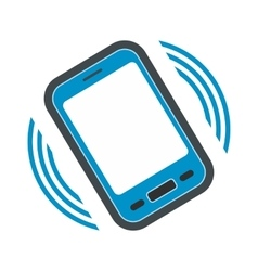 An incoming call to the phone flat icon vector