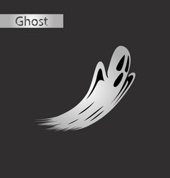 black and white style icon of ghost vector image