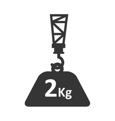 Cargo hang hook crane weight vector