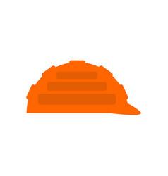 Construction orange helmet isolated industrial vector