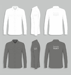 Dress shirts vector image