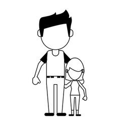 Family members avatars icon image vector