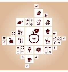 Food the designer vector image vector image