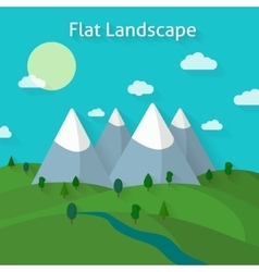 Forest and mountains landscape vector image