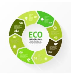 Green circle arrows eco infographic vector