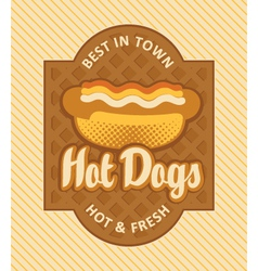 hot dog retro vector image vector image