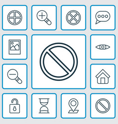 Internet icons set collection of pinpoint vector