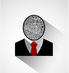 Person silhouette finger print head vector