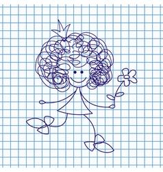 Princess Doodle Sketch vector image vector image
