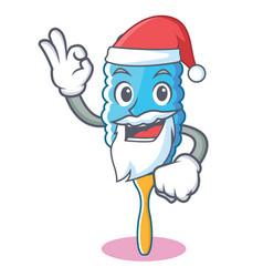 Santa feather duster character cartoon vector