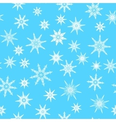 Seamless pattern texture with snowflakes on blue vector image vector image