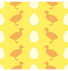 Seamless pattern with duckling vector image vector image