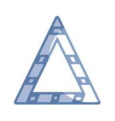 Silhouette triangle attention symbol to security vector