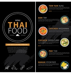 thai food menu vector image vector image