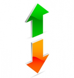 up and down arrow vector image vector image