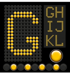 Yellow button letters 2 vector