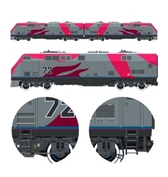 Locomotive rail transportation vector