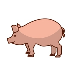 Pork meat butchery icon vector