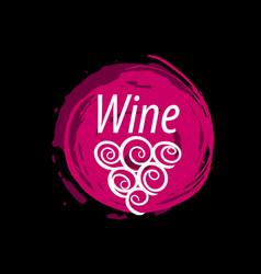 Wine logo imprint vector