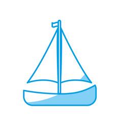 Sail boat icon vector
