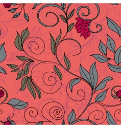 Colorful floral seamless pattern vector