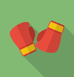 Boxing gloves icon modern flat style with a long vector