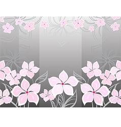 Grey flower background vector