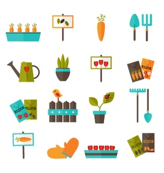 Gardening set icons over white vector