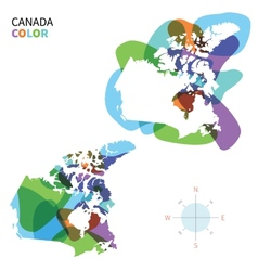 Abstract color map of canada vector