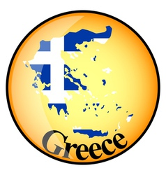 Button greece vector