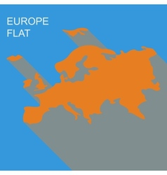 Europe map flat style vector