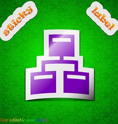 Local Network icon sign Symbol chic colored sticky vector image