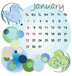 2012 calendar january vector image