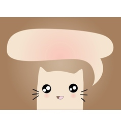 Cartoon cat with bubble vector