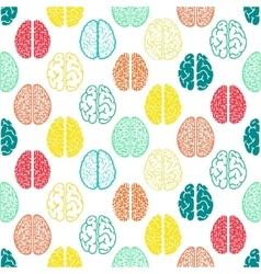 Colorful seamless brain pattern scientific vector