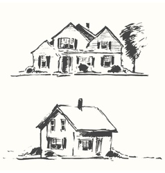 Architect draft houses drawn vector