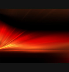 Black background with bright red rays vector