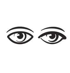 Black eye vector