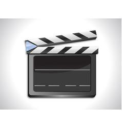 Blank film slate ciak on landscape background vector