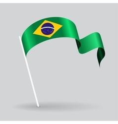 Brazilian wavy flag vector image