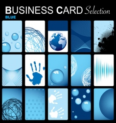 business card selection vector image