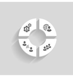 Business people online meeting concept vector